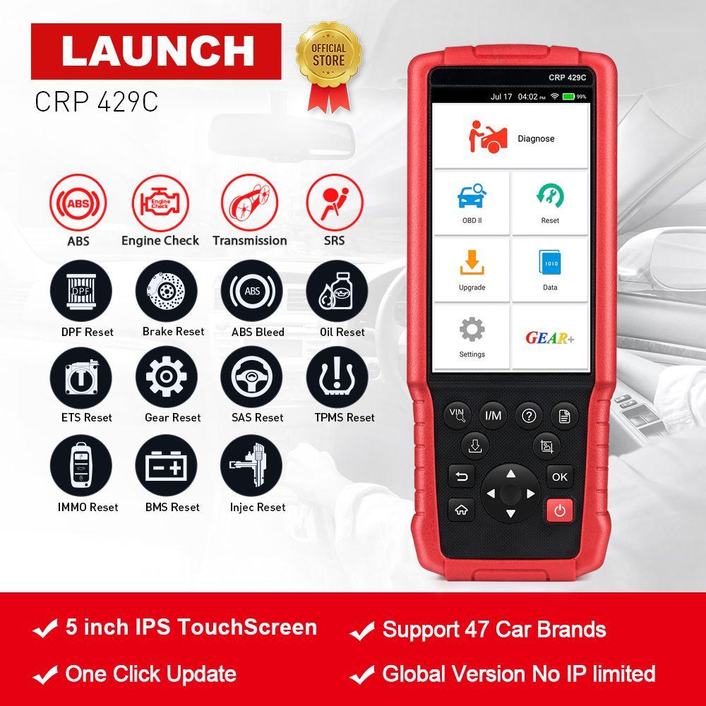 STARTEN X431 CRP429C OBD2 Code Reader Scanner für Motor/ABS/SRS/AT + 11 Reset Service Creader CRP429 Auto Diagnose Werkzeug pk CRP129