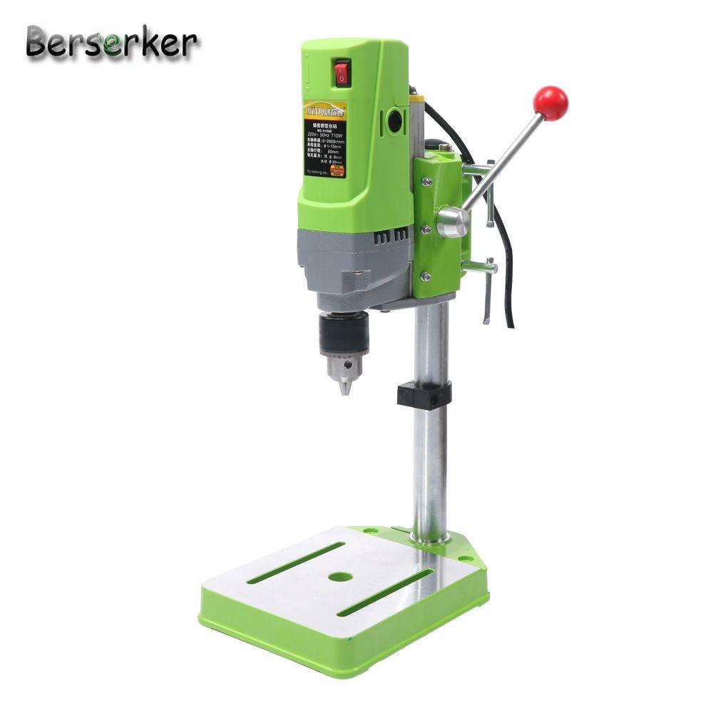 Berserker Mini Tischbohrmaschine high-power-bohrmaschine für bohrmaschine Werkbank 220 V 710 Watt 13mm 5156E Freies verschiffen
