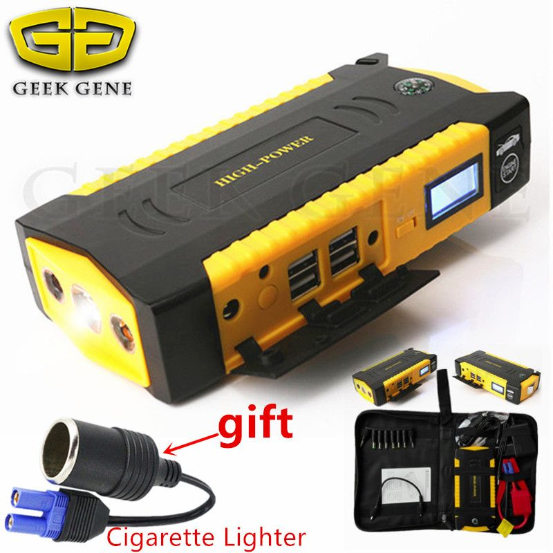 Top Petrol Diesel Car Jump Starter Portable 16000mAh  Lighter Power Bank 600A 12V Car Charger For Car Battery Booster Buster CE