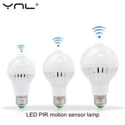 Intelligent LED smart Lumière E27 220 V 5 W 7 W 9 W 110 V PIR Motion Capteur de Lumière LED Ampoule Lampada Auto Infrarouge Body motion sensor