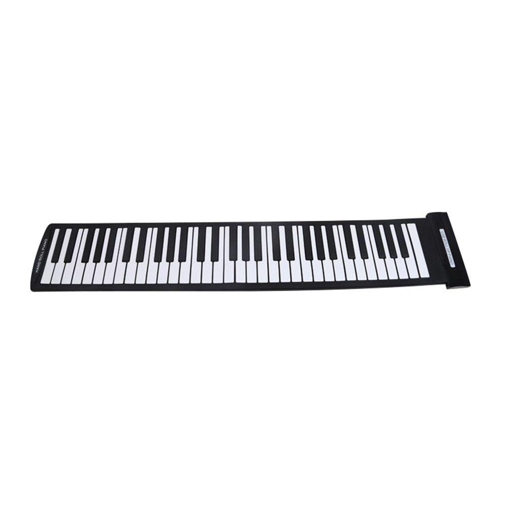 Portable 61 Keys Flexible Roll-Up Piano USB MIDI Electronic Keyboard Hand Roll Piano