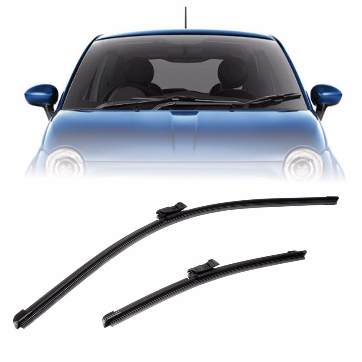 14'' & 24'' SPECIFIC FLAT FRONT WIPER BLADES FOR ABARTH FIAT 500 500C 500L 07-ON