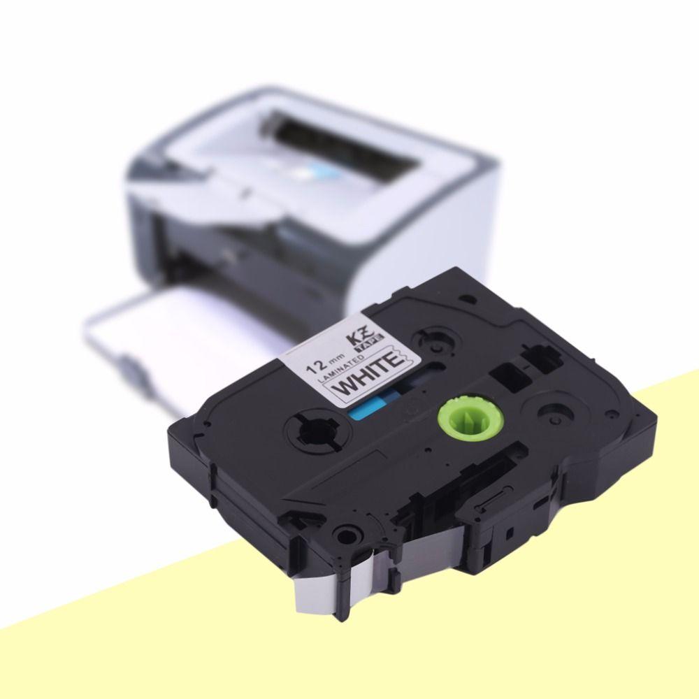 Professionelle kze-231 schwarz auf weiß 12mm etikettendrucker band universal label band compatiable für brother p-touch patrone