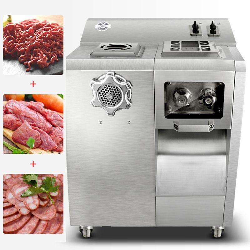 Elektrische fleischwolf kommerziellen 220 V edelstahl multifunktionale clyster fleisch slicer Geschreddert hackfleisch maschine 2200 W