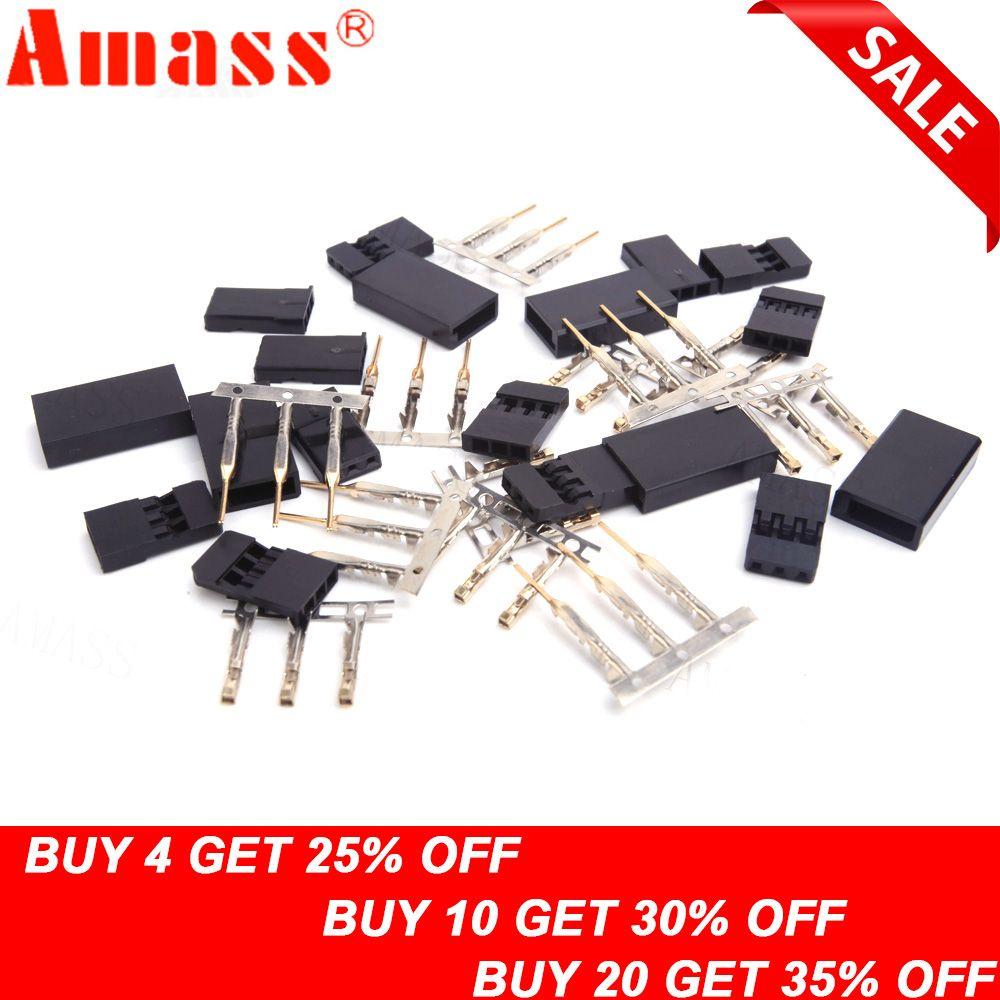 10/20 paar Männliche/Weibliche Stecker Für JR/Futaba Für RC Modell, Servo Stecker, modell Empfänger Batterie ESC Verbindung