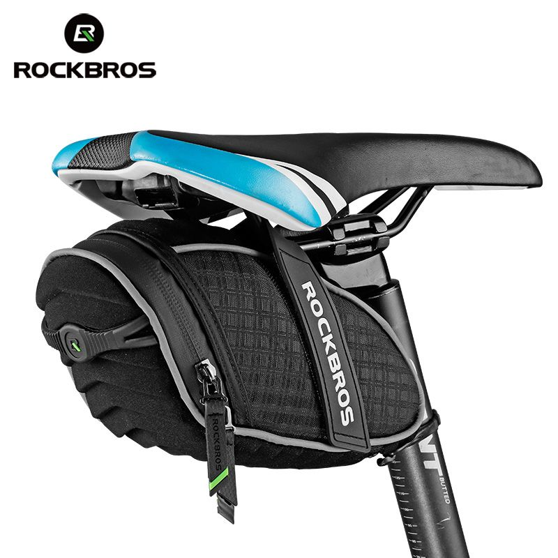 ROCKBROS Bicycle Saddle Bag 3D Shell Rainproof Reflective <font><b>Shockproof</b></font> Cycling Bike Tube Rear Tail Seatpost Bag Bike Accessories