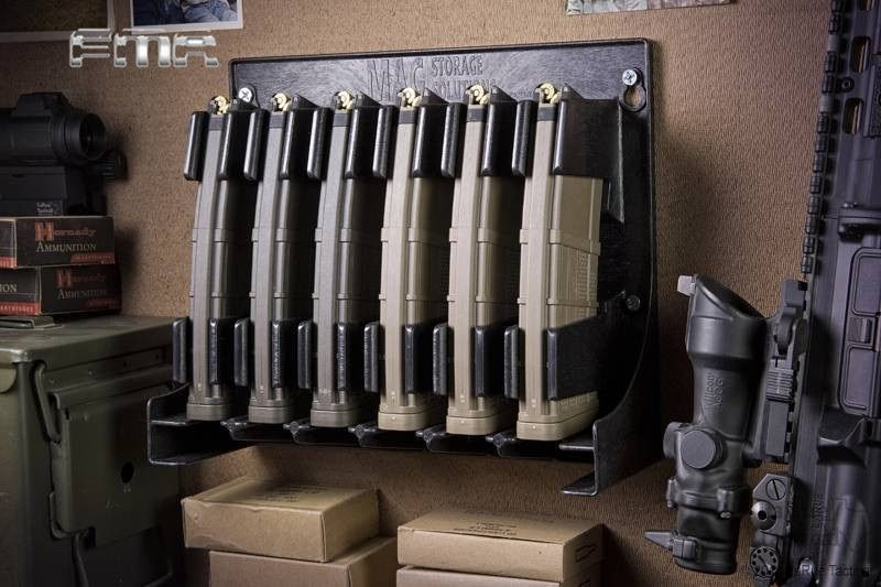 FMA Tactical Gun Mag Storage Solutions 30-round Rifle Magazine Holder Rack For 223 and 5.56 Caliber