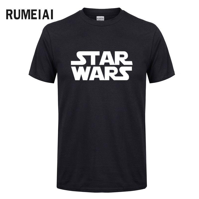 RUMEIAI Nouvelle marque 2017 Hommes D'été de t-shirt Casual Star Wars T-Shirt le Darth Visage Imprimer T-shirt À Manches Courtes T-shirts Hip Hop Tops