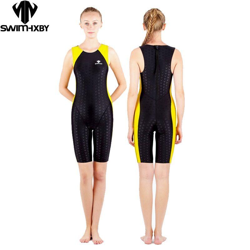 HXBY badebekleidungs-frauen einteilige tri anzug wettbewerb racing swimwuit ironman triathlonanzug haifischhaut weibliche trainingsanzug
