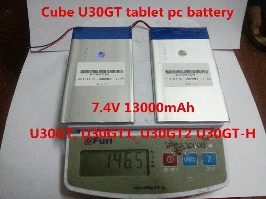 7,4 V 13000 mAh DIY U30GT, U30GT1, U30GT2 dual vier-core tablet pc Wiederaufladbare batterien 33161125 Größe: 3,5*151*125mm