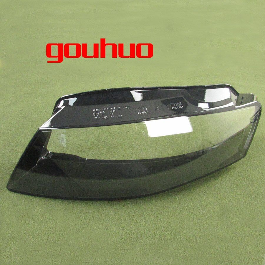 For 09-12 Audi A4L B8 Headlight Lamp Shade Special Transparent Lampshade Headlights Shell Headlamps Cover Glass 2PCS