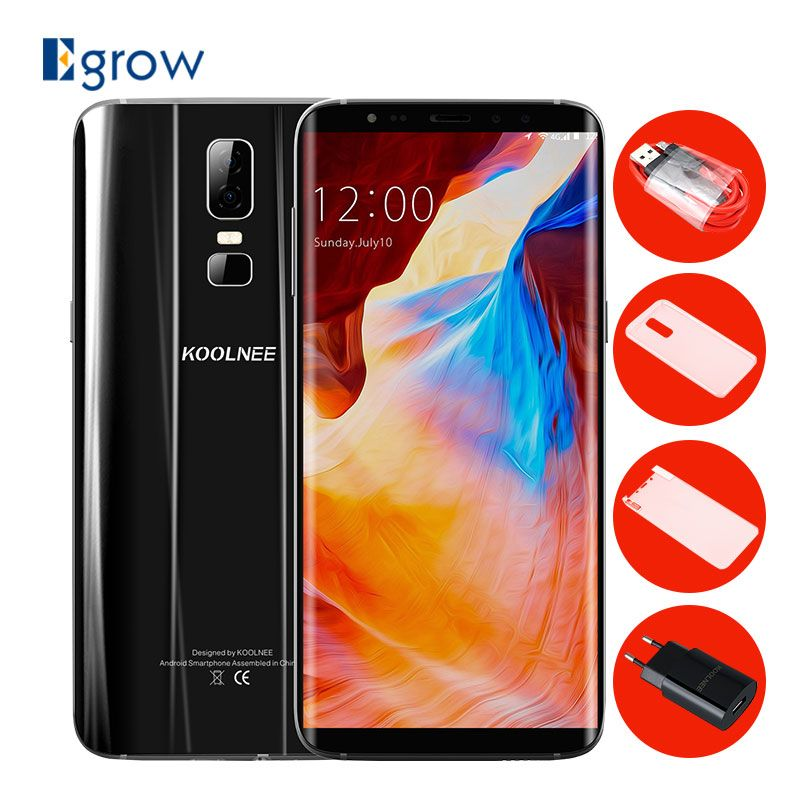 KOOLNEE K1 6.01 Inch FHD MTK6750T Octa Core Android 7.0 4GB 64GB 3190mAh Dual Rear Camera 16MP+2MP Fingerprint 4G LTE Smartphone