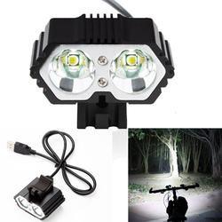 2017 Baru 6000LM 2 X Cree Xm-l T6 LED Anti-Air Lampu Sepeda Sepeda Lampu Depan 721