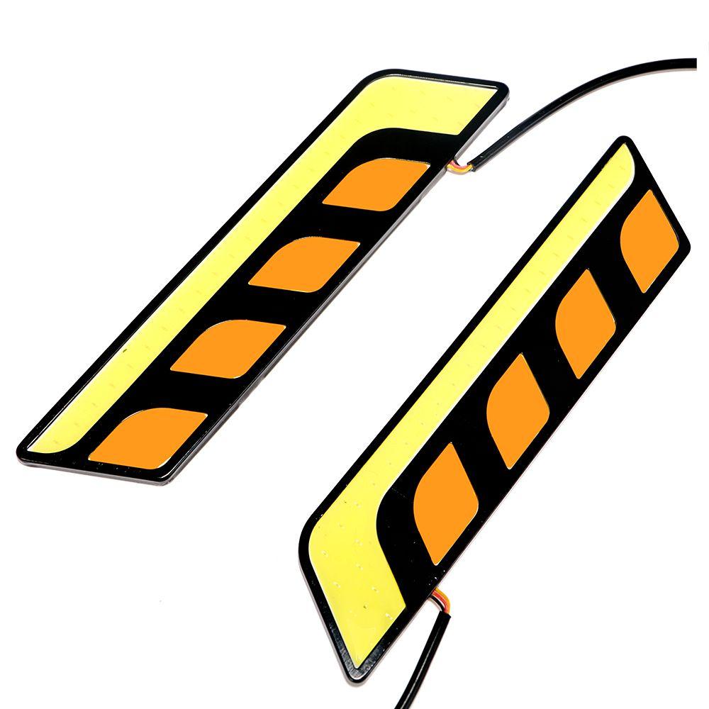 2 stücke Tagfahrlicht Auto-styling COB LED Auto DRL LED Licht Bar Blinker Lichter Alle In ein Auto Nebel Lampen Hohe Qualität