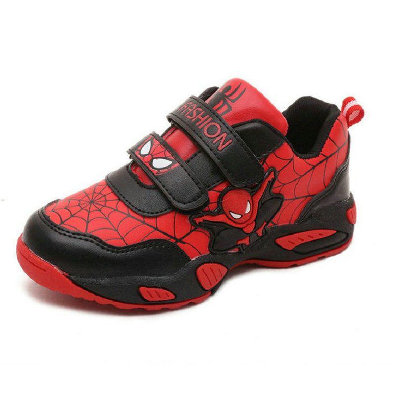 Новинка 2017 года осенние дышащие Человек-паук Дети модные кроссовки ребенок дышащий студент Обувь для девочек спортивные Обувь для мальчико...