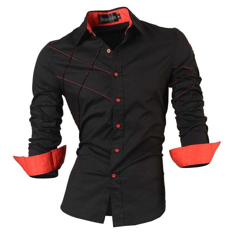 2019 chemises décontractées robe hommes vêtements à manches longues social slim fit marque boutique coton western button 2028