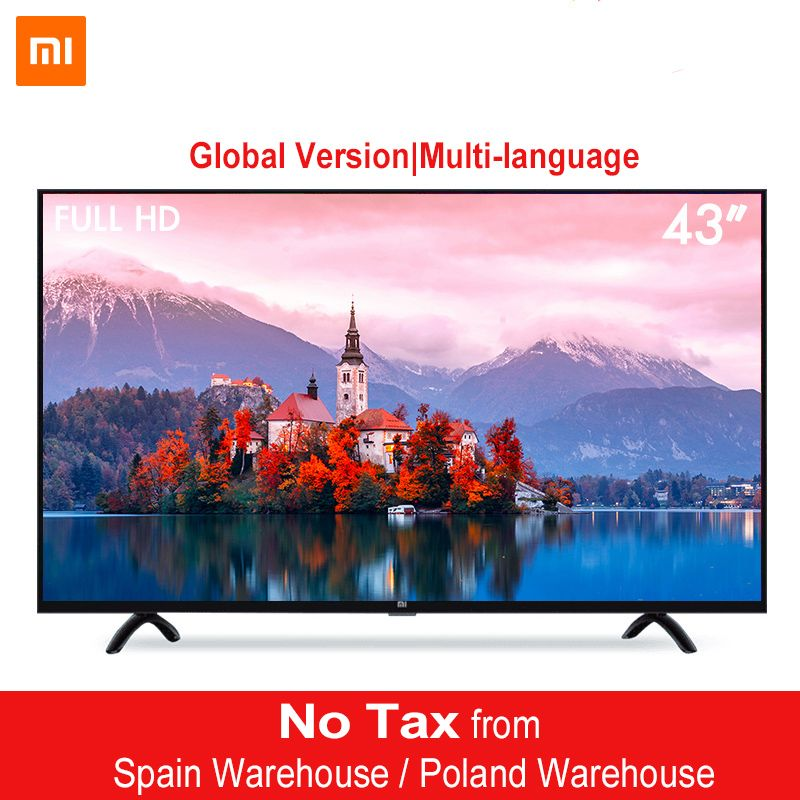 Xiaomi Smart 4A 43inches Mi LED Full HD Android TV 8.0 4A 108 cm Ultimate PatchWall 1GB 8GB Ultra-bright LED Display 1920 x 1080