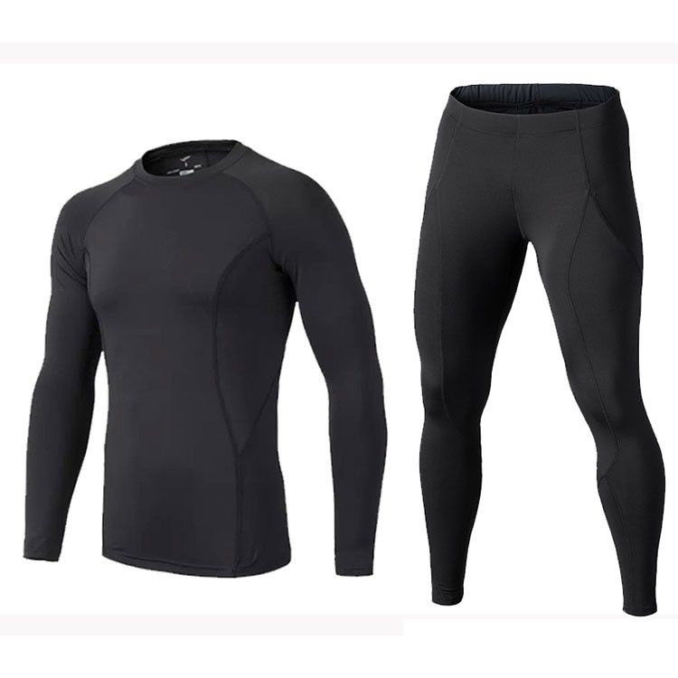 Mens Compression Sets Sport Tights Leggings for Basketball&football Men Fitness Clothing Compression T-shirt+tight Pants 2017