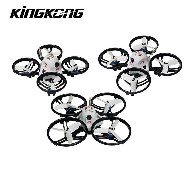 Kingkong ET Series ET100 100mm Micro FPV Racing Drone 800TVL Camera 16CH 25mW/100mW VTX RC Quadcopter BNF VS Kingkong Tiny6