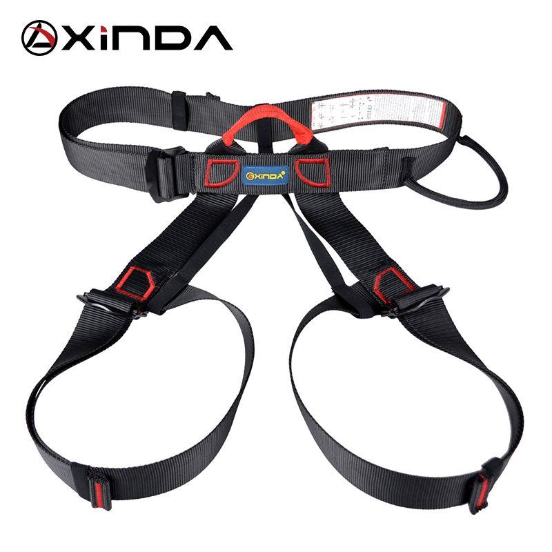Xinda professionnel Sports de plein air ceinture de sécurité escalade harnais taille soutien demi corps harnais aérien équipement de survie