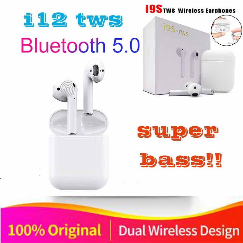 2019 Original i12 air TWS Wireless Bluetooth stereo 3D bass ear buds for all cell pk i10 i15 i17 i13 i14 XY pods i16 i18 i20 tws