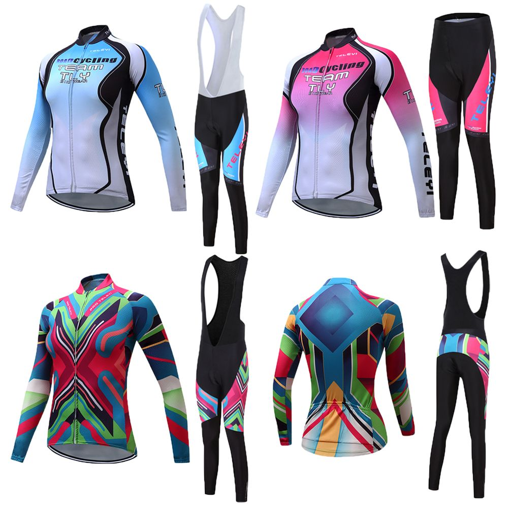New Cycling clothing women bike clothing MTB cycling jersey 2018 long cycling clothes set China bicycle clothing kit skinsuit