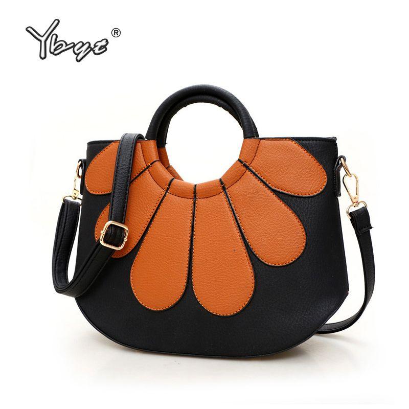 Ybyt бренд 2018 Новые Модные Винтажные лоскутное оболочки сумки кольцо Дамы круглая ручка сумки плеча Crossbody сумки
