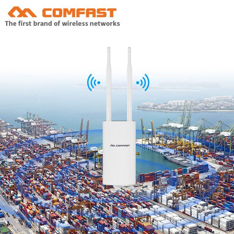 500mW 1200M Gigabit Poe Wireless Outdoor AP 802.11AC Dual Band Extender Wifi Router brücke 10dBi Antenne WiFi Abdeckung basis Station