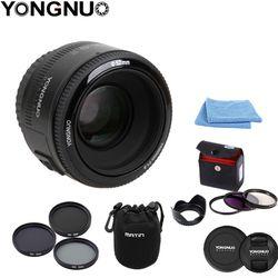 Yongnuo yn 50mm F1.8 gran apertura de enfoque automático para Canon EF montaje EOS Camer + pluma de limpieza