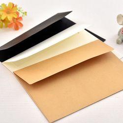 10 pcs/pack 17.5x12.5 cm kraft blanc noir papier Enveloppe Message Carte Lettre Papeterie De Stockage Du Papier Cadeau