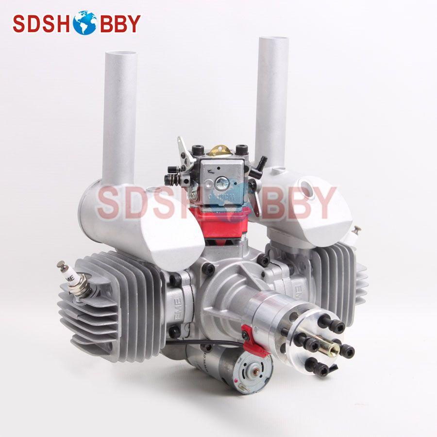 EME70 70CC RC Gasoline Engine Petrol Engine with Electric Starter Walbro Carburetor