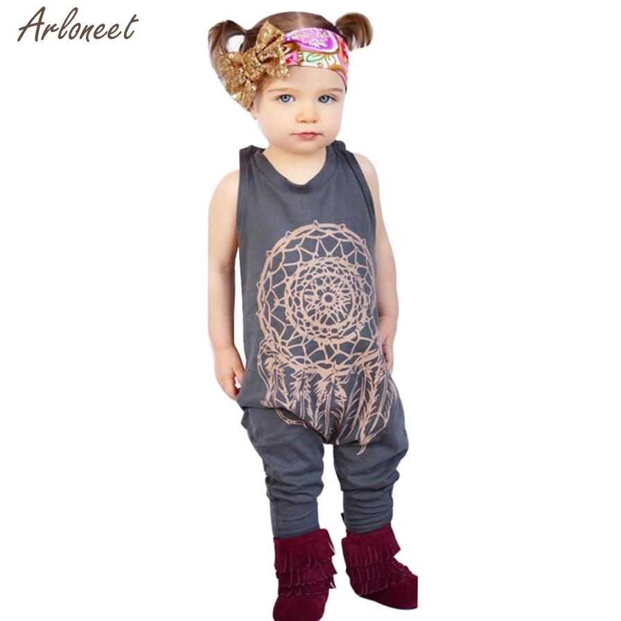 2017 Toddler Baby Girl Boy Clothes Dreamcatcher Sleeveless Romper Jumpsuit Outfitsoct  Fantasy Fantasy