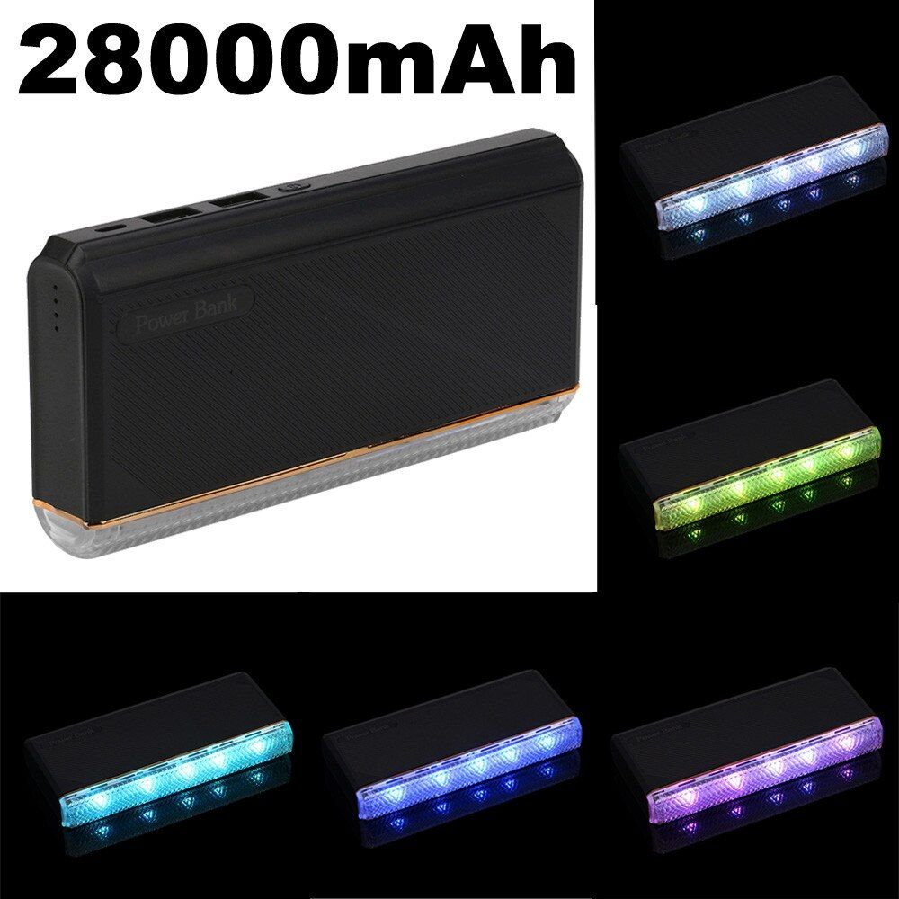 newCARPRIE 2017 Top Fashion 28000mAh Portable Power Bank Dual USB Output Battery Pack For iPhone mobile charger Drop Shipping
