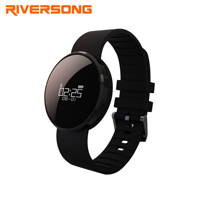 RIVERSONG Glanz BP Smartwatch Fitness Tracker Pulsmesser Schrittzähler Bluetooth Smart Watch Schlaf-monitor für Android & IOS