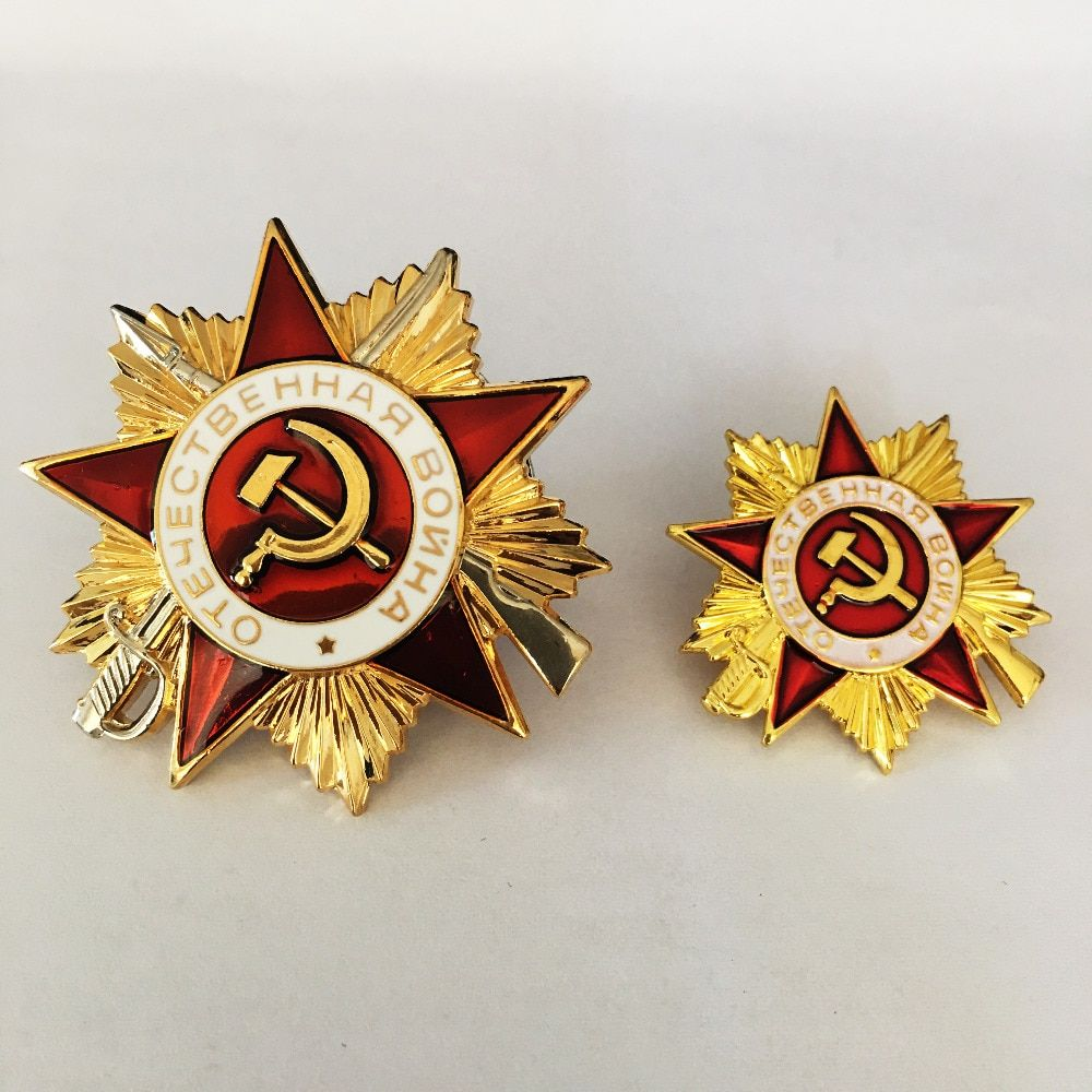 2 pièces/lot russie Cccp médaille en métal insignes pour vêtements ww2 urss soviétique militaire rouge étoile russe armée épinglettes argent et or