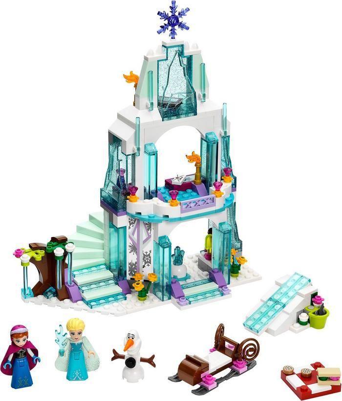 2016 297Pcs BOHS Elsa Sparkling Ice Castle Princess Palace Model Building Kits Blocks Bricks Girl Toy( No Retail Box)