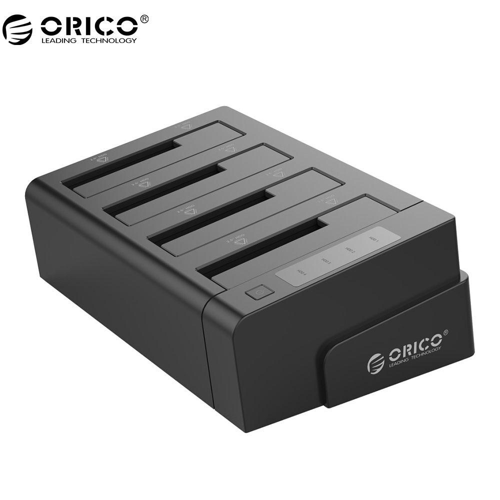 ORICO 6648US3-C USB 3.0 2,5 & 3,5 zoll SATA Externe Festplatte Dock 4-Bay Off-line Klon Hdd Docking Station-schwarz
