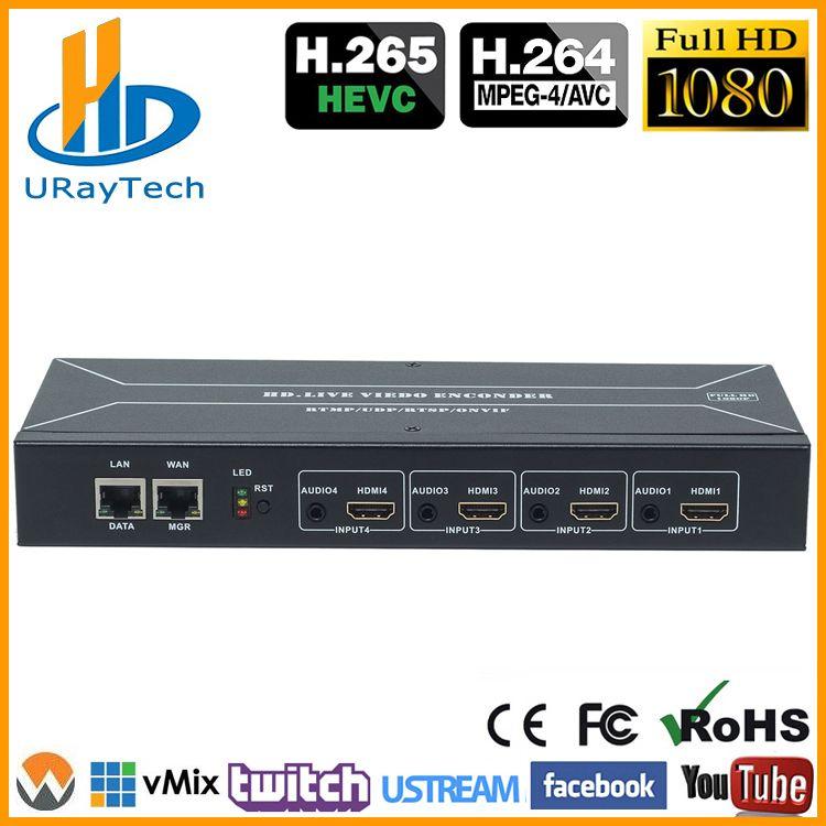 HEVC HDMI Video Encoder H.264 H.265 IPTV Encoder Live Broadcast Encoder