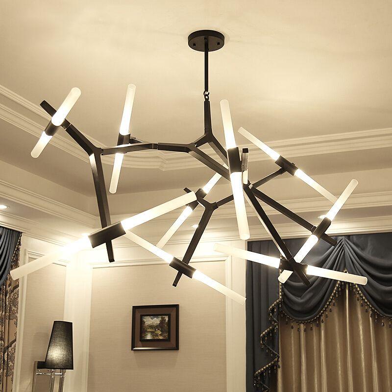 Modern LED Chandelier Lighting For Dining room Living room lustre salon moderne Glass Chandelier suspension luminaire Light Fixt