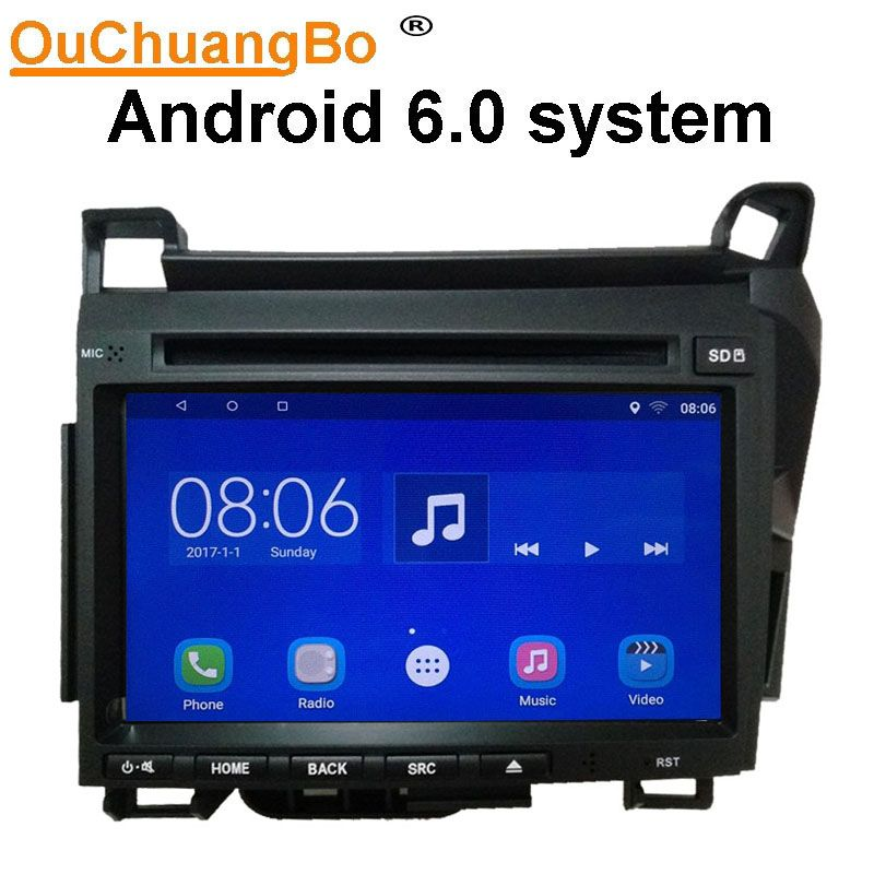Ouchuangbo android 6.0 car radio recorder for Lexus CT200h 2011-2017 with GPS wifi Bluetooth USB 1080P video mirror link