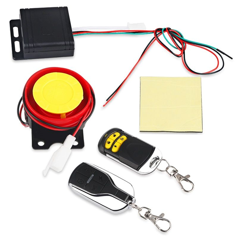 Anti-Theft Motorcycle <font><b>Security</b></font> Alarm System Remote Control Motorbike Bike Moto Scooter Motor Alarm System With Remote Start 12V