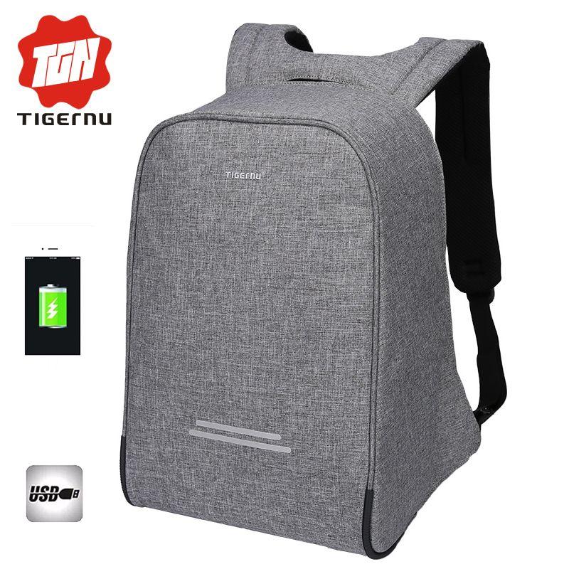 2017 Tigernu Anti-theft Design Men 15.6inch Laptop Backpack Women Backpack Mochila School Bags for teenagers Casual Laptop Bag