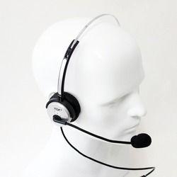 Xqf color plata nuevo volumen ajustable 4 pin call center auricular de teléfono monoaural auriculares rj11