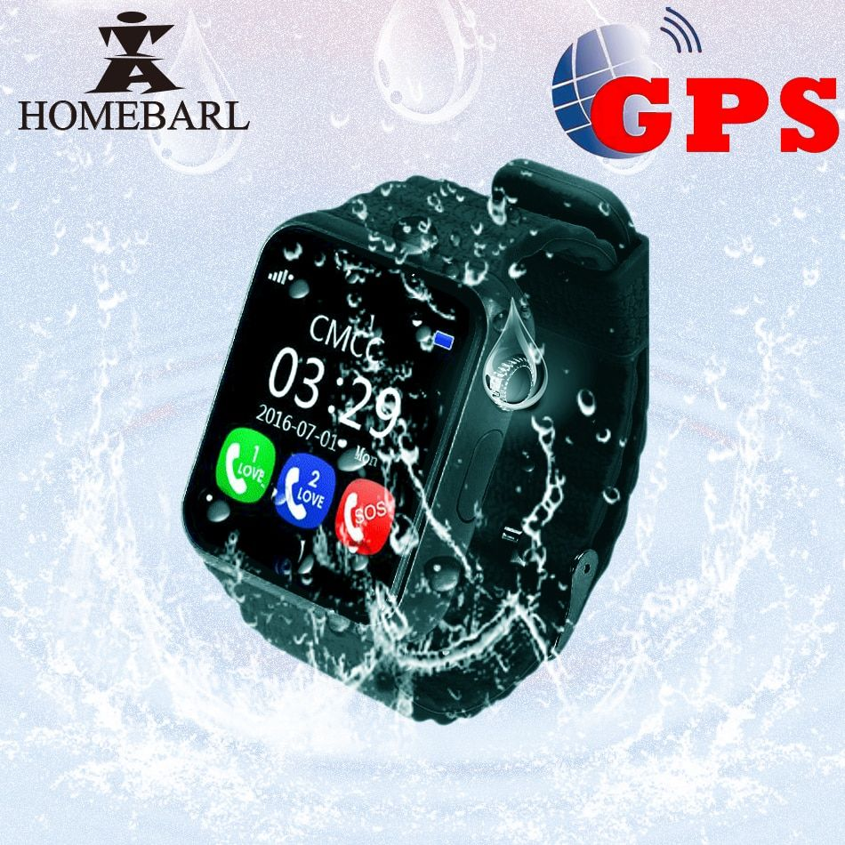 V7K Kids GPS Watch Tracker Children Kid Security Anti Lost Waterproof Smart Watch Camera SOS For Android IOS PK Q90 Q50 Q60 Q528