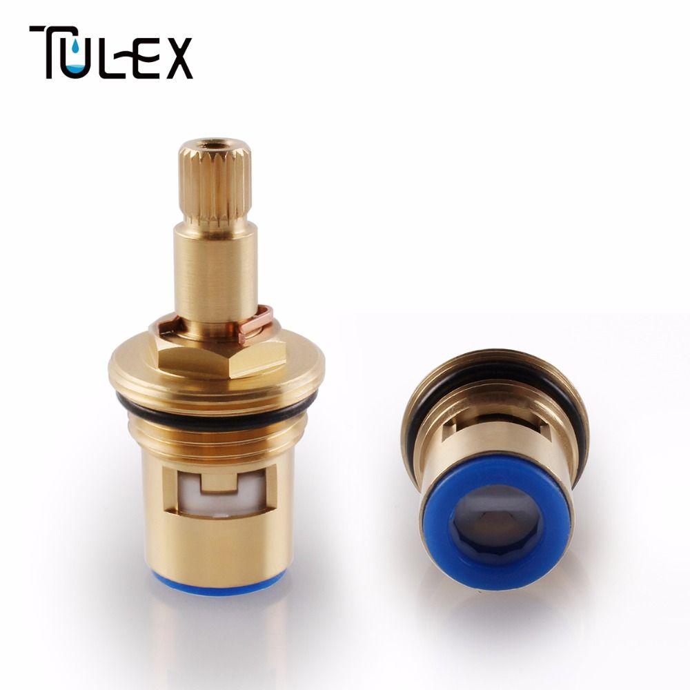 TULEX céramique disque robinet cartouche bec haut de gamme en laiton pièce de rechange pour eau mélangeur robinet intérieur vanne noyau quart de tour