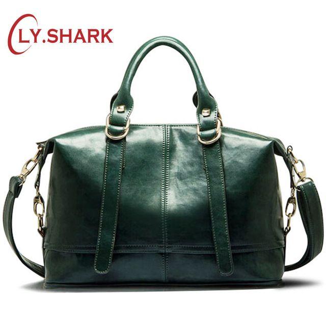 LY.<font><b>SHARK</b></font> Big Cheap Women Bags Female Bag PU Leather Crossbody Messenger Bag Women Shoulder Handbags Boston Green Famous Brand