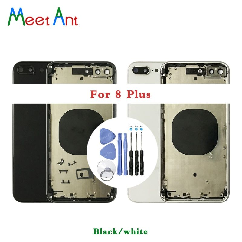High Quality Back Cover For iphone 8 8G or 8 Plus 8Plus or For iphone X Housing Cover Rear Door Chassis Middle Frame