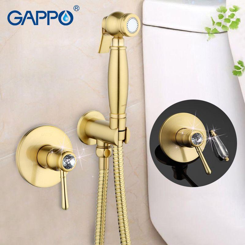 Gappo Crystal Bathroom bidet faucet muslim bidet shower toilet sprayer restroom mixer tap toilet washer tap mixer GA7297/7297-4