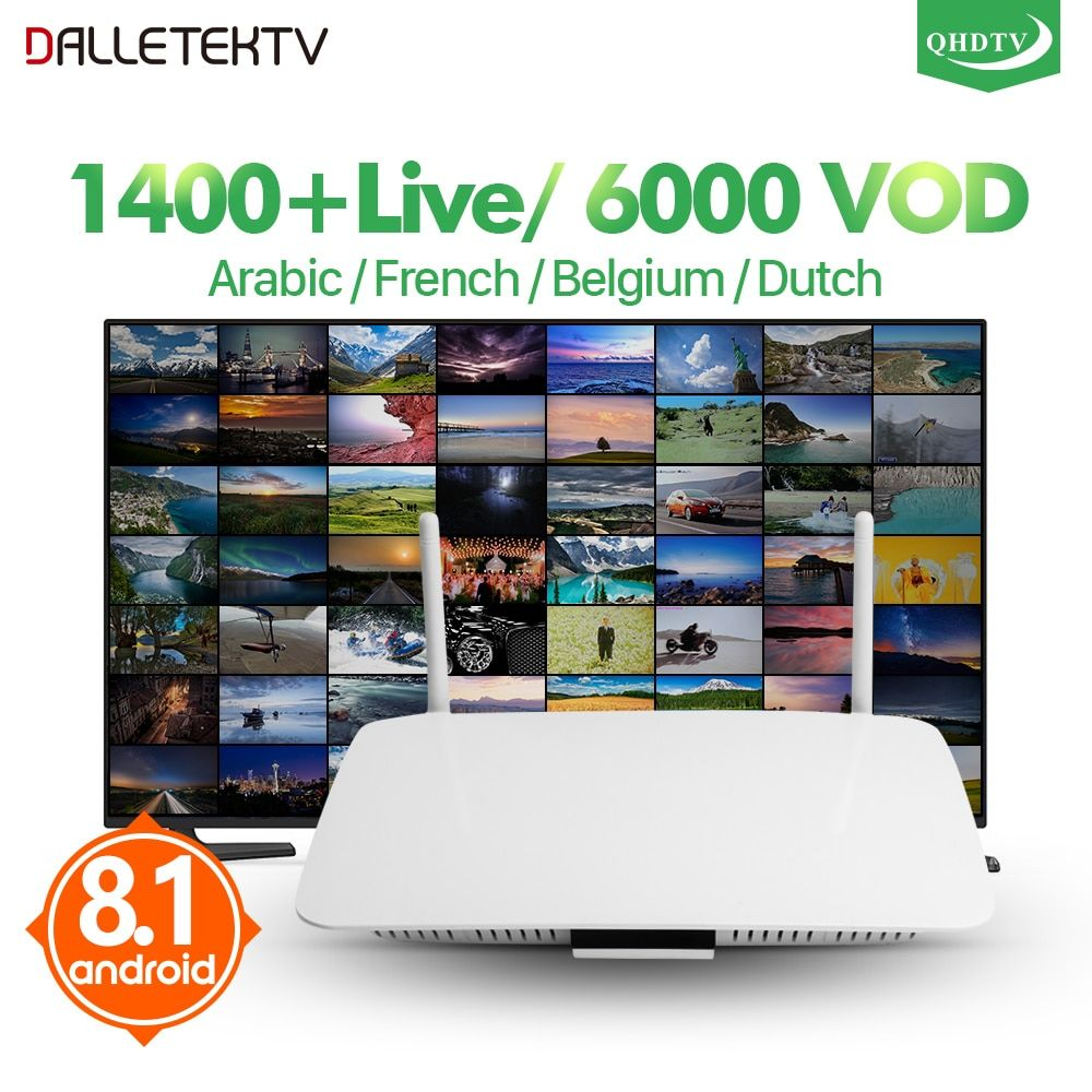 Leadcool IPTV France arabe Q1404 Android 8.1 TV box Quad-Core QHDTV abonnement IPTV belgique France arabe pays-bas IPTV