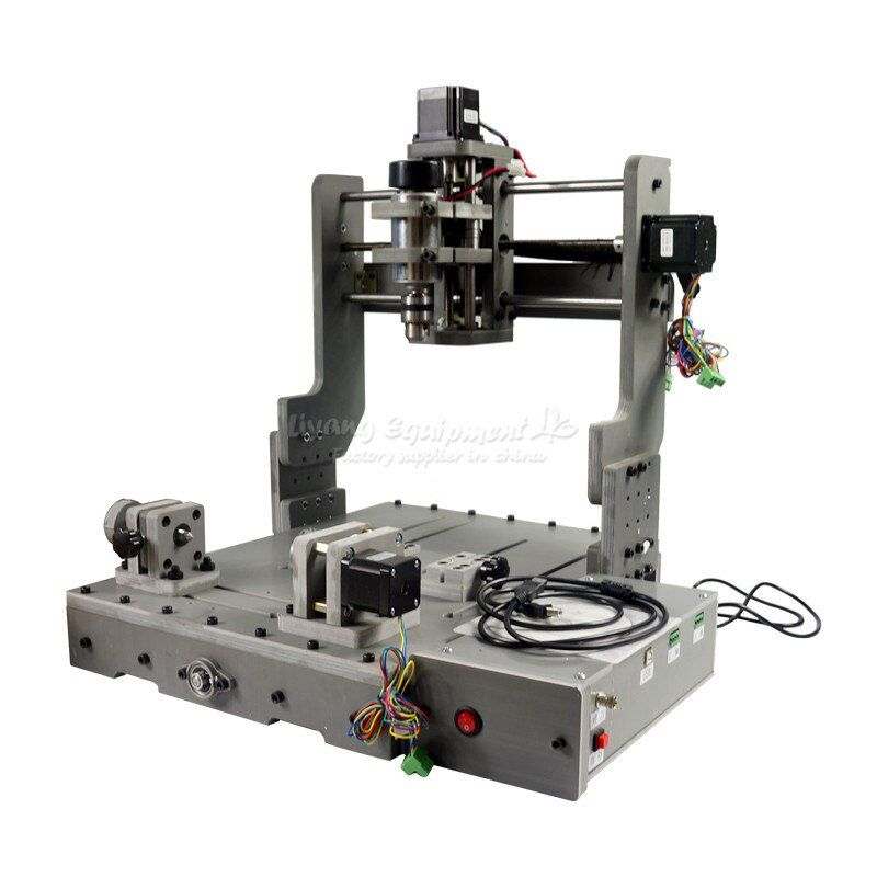 DIY Mini CNC 3040 3 Axis 4 Axis USB Port 300W Wood Milling Router Machine